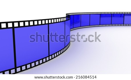 Filmstrip on white background - stock photo