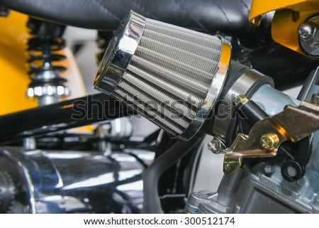 filter Carburettor for motorcycle - stock photo