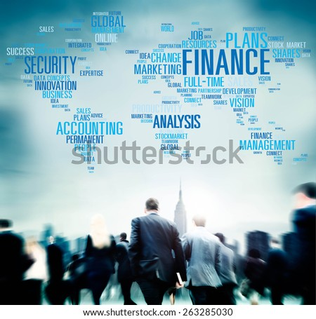 Finanace Security Global Analysis Management Accounting Concept - stock photo