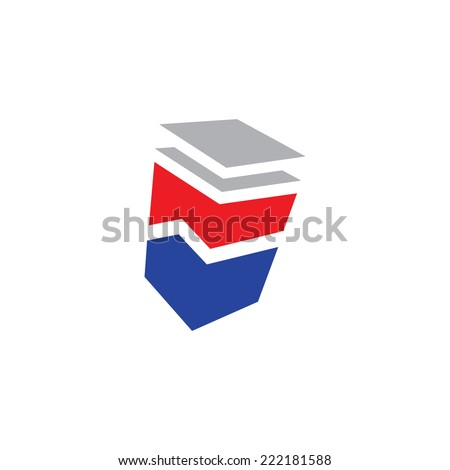 Finance abstract sign Branding Identity Corporate logo design template Isolated on a white background - stock photo