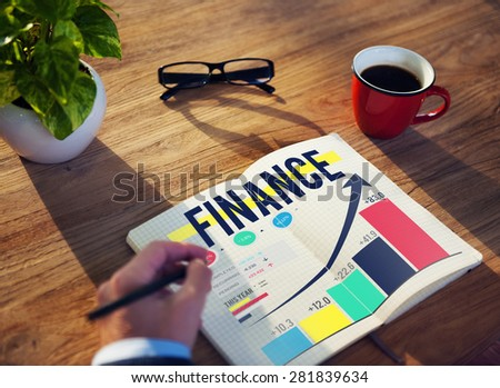 Finance Accounting Analysis Management Concept - stock photo