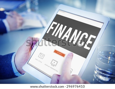 Finance Accounting Banking Economy Money Concept - stock photo