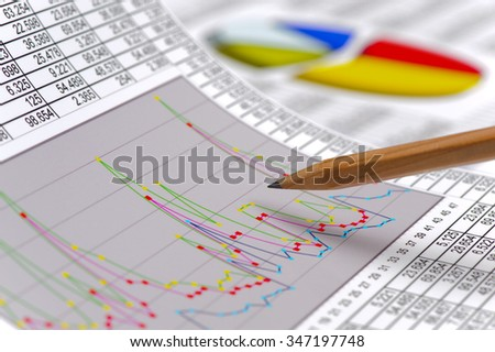 finance and stock market with chart - stock photo