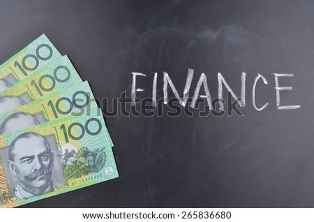 Finance Australian Dollars - stock photo