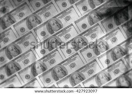 Finance background of 100 dollar bills