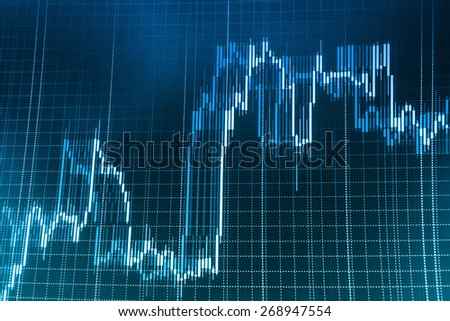 Finance background, stock exchange chart graph. Business abstract stock exchange screen. - stock photo