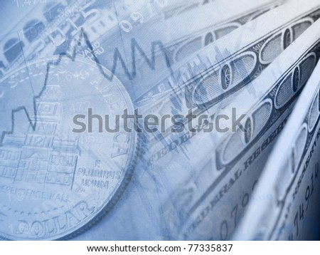 Finance background with dollars. Business concept. - stock photo