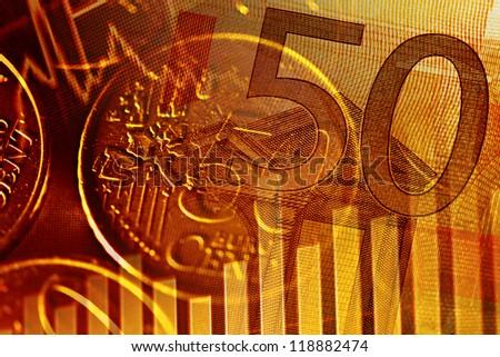 Finance background with euro money. - stock photo