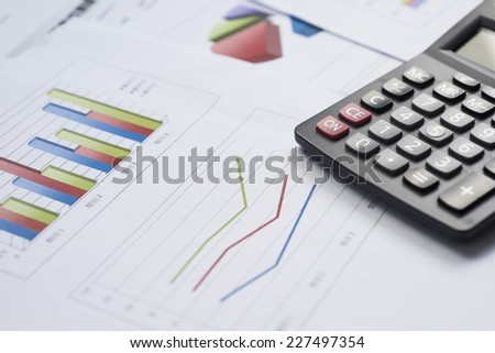 finance business calculation - stock photo
