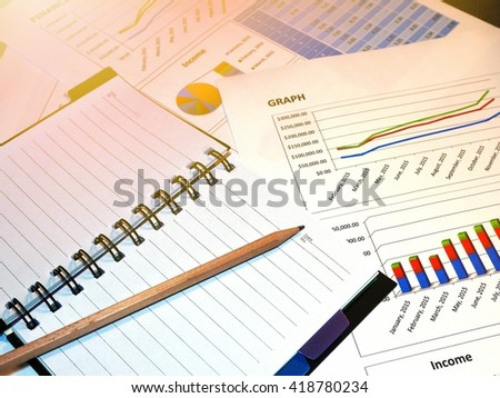 Finance chart and graph. Business concept.