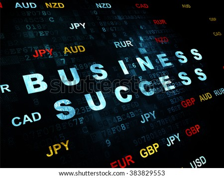 Finance concept: Business Success on Digital background