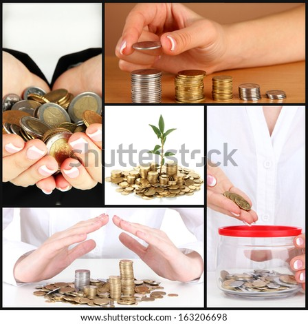 Finance concept collage - stock photo