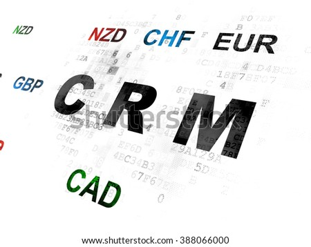 Finance concept: CRM on Digital background - stock photo