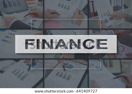 Finance concept illustrated by a picture on background