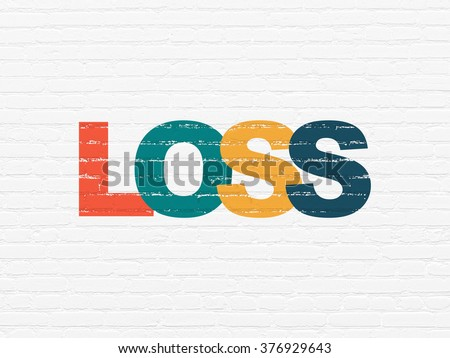 Finance concept: Loss on wall background