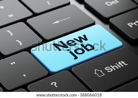 Finance concept: New Job on computer keyboard background - stock photo