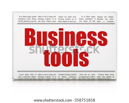 Finance concept: newspaper headline Business Tools - stock photo