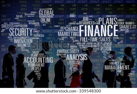 Finance Global Productivity Decision Management Concept - stock photo