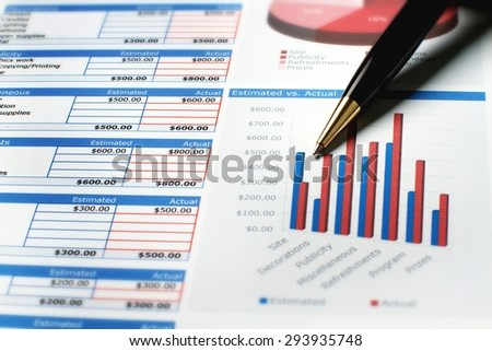 Finance, Graph, Chart. - stock photo