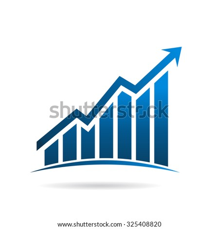 Finance graphic up rising logo - stock photo