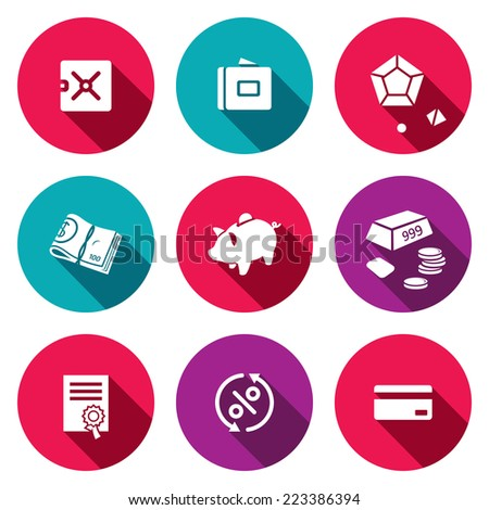 Finance icon collection - stock photo