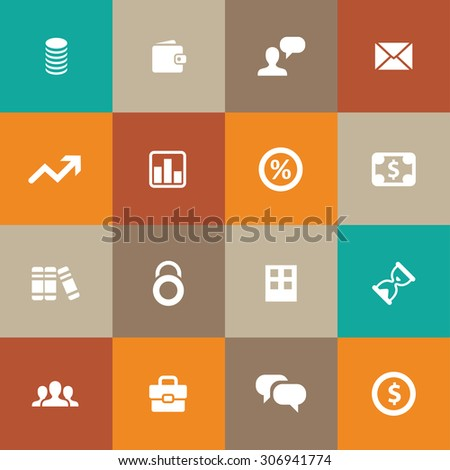 finance icons universal set for web and mobile