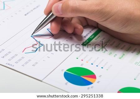 Finance, Report, Business. - stock photo