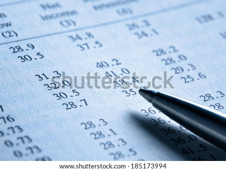 Finance, tinted photo - stock photo