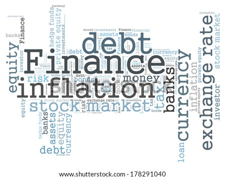 Finance word cloud - stock photo