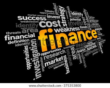 FINANCE word cloud, business concept - stock photo