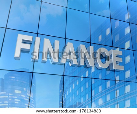 finance word on building