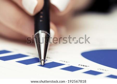 Financial accounting stock market graphs analysis  - stock photo