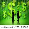 Financial Agreement with Handshaking - stock photo