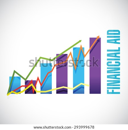 financial Aid business graph sign concept illustration design graphic