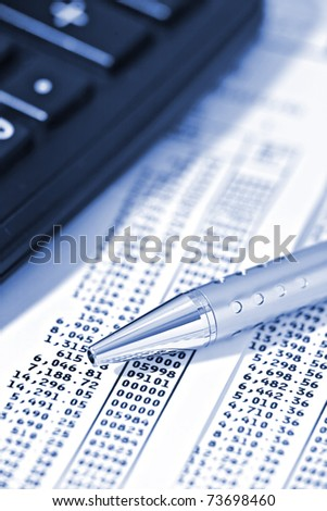 financial analysis - stock photo