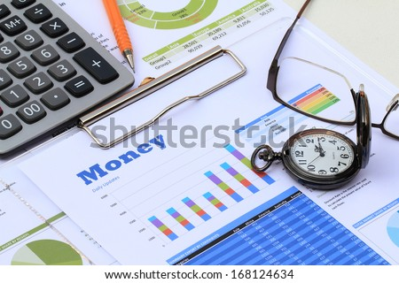 Financial and economic news update - stock photo