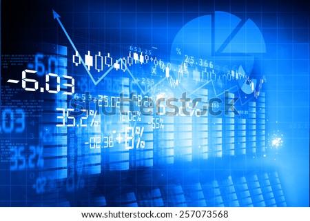 Financial background , stock market chart  - stock photo