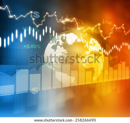 Financial background , stock market chart  - stock photo