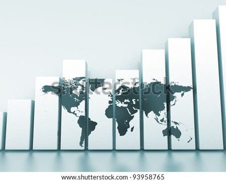 financial background world economy - stock photo