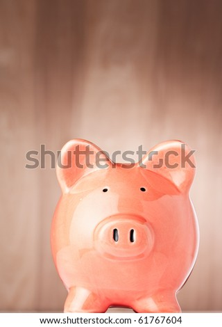 Financial Business Concept. Saving money with your Piggy Bank.