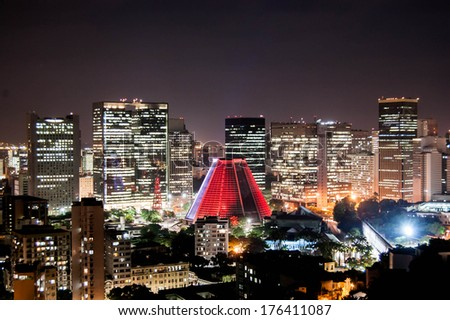 Financial Center of Rio de Janeiro by night