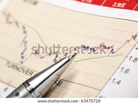 financial chart - stock photo