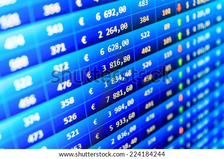 Financial chart as background. Stock exchange market. Stock market chart on green background. Growing up numbers symbolizing growth. Stock market discussion. Computer screen live display. Macro view.  - stock photo
