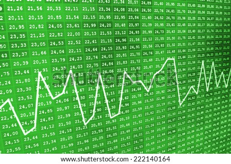Financial chart as background. Stock market discussion. Dollars table computer. Macro view. Stock market discussion. Business stats screen Business trade. Dollars table computer. Computer screen.  - stock photo