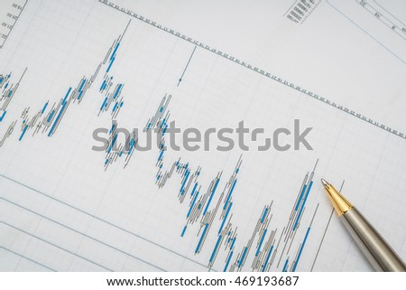 Financial charts on the table