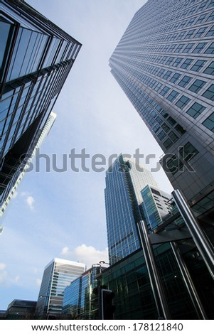 Financial Corporate building Skyscrapers center, London  - stock photo