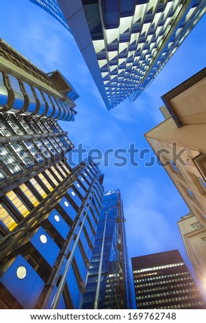 Financial Corporate Skyscraper office building in London City, England, UK  - stock photo