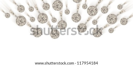 Financial crisis - an old bombs made of money falls down - stock photo