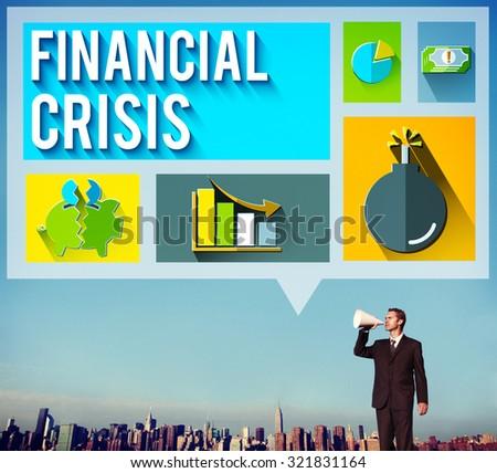 Financial Crisis Problem Money Issue Concept - stock photo