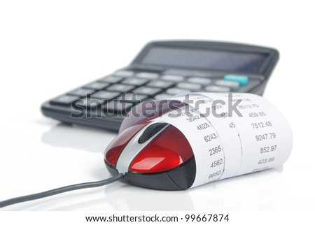 Financial data - stock photo